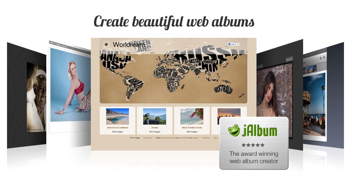 Create beautiful albums with jAlbum!