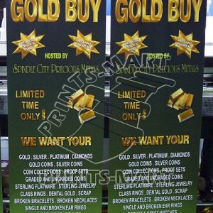 "24"" wide (60x160) Roll Up Banner Stand"
