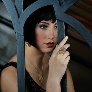 Fashion jewelry shoot - 1920s look