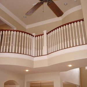 Wood Spindle Stair Remodel