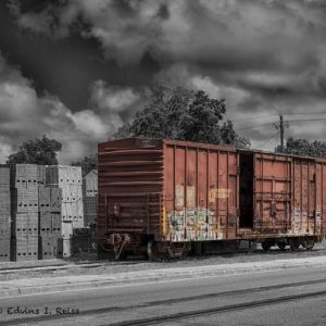 Hand Painted ~ RR Box Car